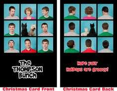 Great Christmas Card Idea! Would probably be a bit more creative though!