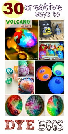 30 creative & fun ways to decorate Easter eggs- these are the best ideas I've seen!