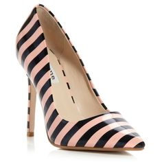 Dune apricot-synthetic patent benefit stripe patent court shoe ($130) ❤ liked on Polyvore