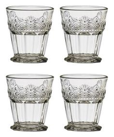 Look what I found on #zulily! Clear Rococo Double Old-Fashioned Glass - Set of Four #zulilyfinds
