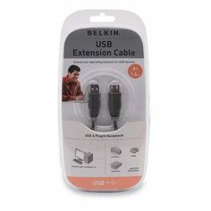 Belkin F3U134V06 USB 6' Extension Cable Type A (M) to Type A (F) by Belkin. $5.39. Belkin Components is the preeminent technology leader in connectivity solutions for the puter and consumer electronics user. Producing the highest-quality cabling products has always been the key to success. Always ahead of the rest Belkin supports the latest technologies. Belkin the leader in the cable industry has the cable you need!Primary InformationCable Type:USB extenderDimensions.