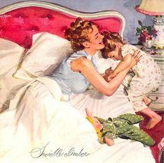 illustrations de john gannam - Page 3 Vintage Ads, Vintage Images, Vintage Housewife, Ad Art, Arte Pop, Marceline, Retro Art, Mother And Child, Mothers Love