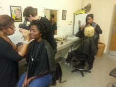 20140124 135943 300x225 #Curlformers for Blackhair and Hair magazine behind the scenes!