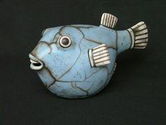 raku fish ceramic sculpture by martim santa rita ♥♥ Pottery Animals, Ceramic Animals, Clay Animals, Raku Pottery, Pottery Tools, Pottery Art, Pottery Ideas, Clay Fish, Sculptures Céramiques