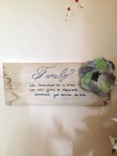 Made from scrap of wood and handwritten quote#MyFavouriteMakes