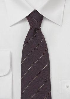 Pencil Stripe Wool Tie in Midnight Blue - ties shop - narrow Tie Shop, Mahogany Brown, Wool Tie, Blue Ties, Blue Wool, Office Fashion, Stripes Design, Midnight Blue, Autumn Winter Fashion
