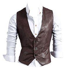Partiss Herren PU Kunstleder Weste Einreihig Bikerweste Motorradweste leather vest(48,Dark brown) Partiss http://www.amazon.de/dp/B00N4OXYN4/ref=cm_sw_r_pi_dp_sfARvb0SM8JM1