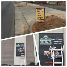 Signs everywhere!! Permanent yard signs and window decals. #stickers #printing #signs @decals #clt #nc #carolinastickers #cltstickers #stickerart #art #stickerporn