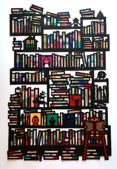 Library Paper Cutting art