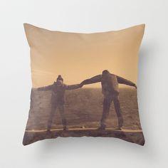 Jump Throw Pillow by Victoria Herrera - $20.00