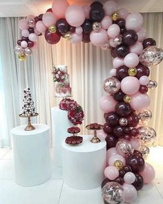 Quinceanera Party Planning – 5 Secrets For Having The Best Mexican Birthday Party Balloon Garland, Balloon Arch, Balloon Decorations, Birthday Party Decorations, Wedding Decorations, Moms 50th Birthday, Birthday Parties, Deco Ballon, Decoration Evenementielle