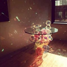 Sweet glass table