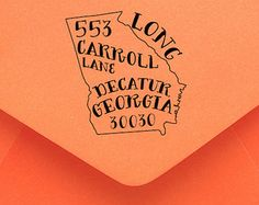 Personalized Georgia Return Address Stamp? Are these available as OTHER states? Oooooooh.....