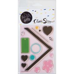 Amazon.com: Aha Arts AHA5034 Clear Stamp Sheet, DIY Chevron and Tags, 4-Inch x 6-Inch: Arts, Crafts & Sewing