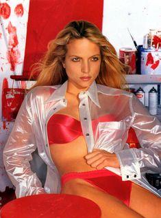 nice red satin lingerie set