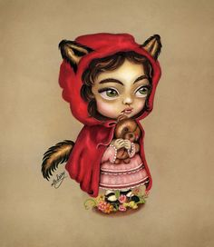 Red Riding Hood painting by Lang Leav.