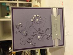 Wedding card, stampin up