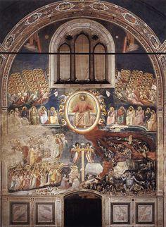 Giotto di Bondone. Last Judgment (1306). Fresco, 1000 x 840 cm. Cappella Scrovegni (Arena Chapel), Padua