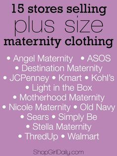 15 Stores Selling Plus Size Maternity Clothing #plussize #maternity
