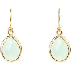 Latelita London - Petite Drop Earring Aqua Chalcedony (£51) ❤ liked on Polyvore featuring jewelry, earrings, aqua blue jewelry, chalcedony drop earrings, drop earrings, aqua earrings and aqua jewelry