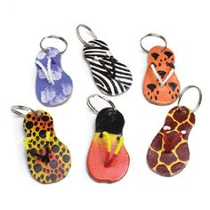 African Sandal Keychain $1.49 Made of leather and beads. Styles vary and cannot be specified. Made in Kenya. M-642 Order Here: africaimports.com