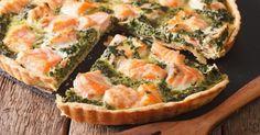 Recette de Quiche légère fondante saumon et épinards. Facile et rapide à réaliser, goûteuse et diététique. Ingrédients, préparation et recettes associées.