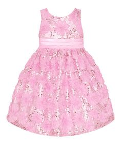Love this Ice Pink Sequin Floral Dress - Toddler & Girls' Plus by American Princess on #zulily! #zulilyfinds