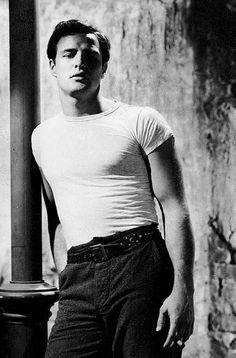 Marlon Brando photographed on the set of A Streetcar Named Desire, 1951