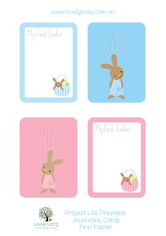 Easter Project Life Printable Journaling Cards - Lovely Living - Love The Life You're Living