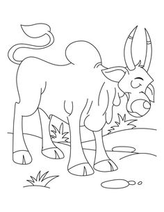 The Lone Arabian Camel Standing In The Sahara Desert Coloring Page - coloring pages for mental health