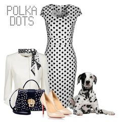"""""""White Polka Dress"""" by danewhite ❤ liked on Polyvore featuring WithChic, Alexander McQueen, Dolce&Gabbana, Christian Louboutin and Marc Jacobs"""