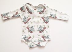 Baby homecoming outfit, baby gift guide,  organic cotton koala onesies; baby leotard; baby onesies; toddler onesies