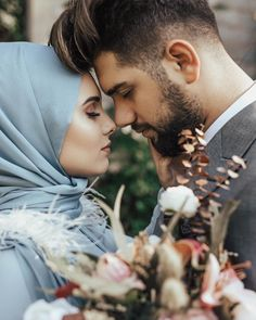 Discover recipes, home ideas, style inspiration and other ideas to try. Cute Muslim Couples, Cute Couples, Couple Photography Poses, Wedding Photography, Twisted Bangs, Curled Ponytail, Wedding Photoshoot, Wedding Couples, Marriage