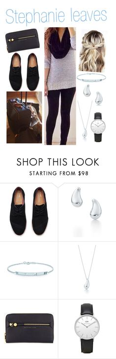 """Stephanie leaves"" by karolinebhn ❤ liked on Polyvore featuring TOMS, Elsa Peretti, Tiffany & Co., Marc by Marc Jacobs and Daniel Wellington"
