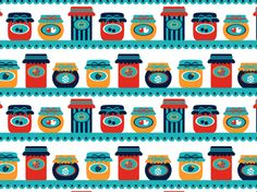 """ambu1959's preserves"" by koraih CLAD, aqua, red, yellow"