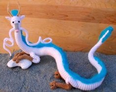Crochet dragon on Etsy