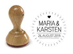 Namen & Monogramme - Hochzeits-Siegel-Stempel mit Namen :: 30–45 mm - ein Designerstück von Stempel-Rabe bei DaWanda