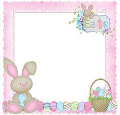 Marcos de Fotos Happy Easter. Conejo de Pascua Semana Santa en png. ~ Marcos Gratis para Fotografías.