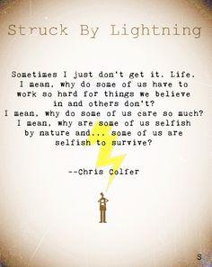 struck by lightning MoreStruck By Lightning Movie Quotes