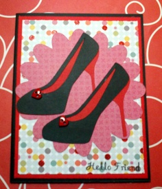 Forever Young Cricut cartridge shoe card