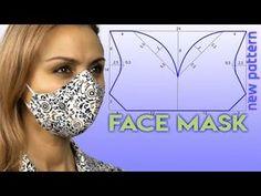 Easy Face Masks, Diy Face Mask, Mens Face Mask, Sewing Patterns Free, Clothing Patterns, Sewing Hacks, Sewing Tutorials, Dress Tutorials, Best Masks