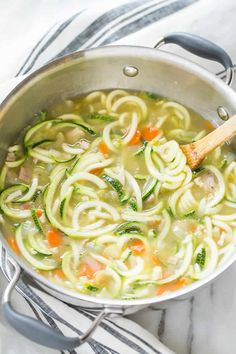 Homemade Chicken Zucchini Noodle Soup