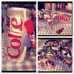 "A favor I made for my mom's summer party-- struck by inspiration at the store when she sent me there last minute for favors. Soda flavored lip smackers lip balm tied to diet coke with ribbon with a tag that says ""Have a refreshing summer"". Delicious and fun. One of my brighter ideas."
