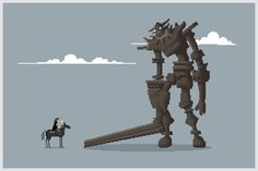 Pixel of the Colossus by Michael Myers, via Behance