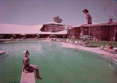 las vegas 1950   ... on diving boards at Wilbur Clark's Desert Inn (Las Vegas), circa 1950s