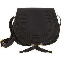 Chloé Women's Marcie Crossbody Saddle Bag (86.955 RUB) ❤ liked on Polyvore featuring bags, handbags, shoulder bags, bolsas, black, shoulder handbags, leather shoulder bag, leather handbags, leather saddle bags and saddle bags