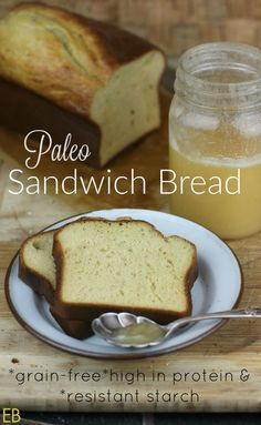 SANDWICH BREAD- Paleo, Resistant Starch, high-in-protein, grain-free, FAST-to-make, spongy, resilient, flexible, soft, cozy - Eat Beautiful