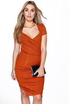 40bfb7c97284 Plus Laura Wrap Front Midi Dress Plus Size Dresses, Curve Dresses, Party  Dresses,