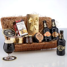 £41.09. Beer Cheer Hamper. Old Tom Ales Hamper. A bumper beer hamper with plenty of treats – a great gift! Presented in a lovely wicker tray.