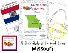 Come see Week 27 of the FREE US State Study of the Week Weekly Series and get your Missouri themed Pack.